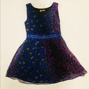 Nicole Miller Girls Gradient Purple Holiday Dress